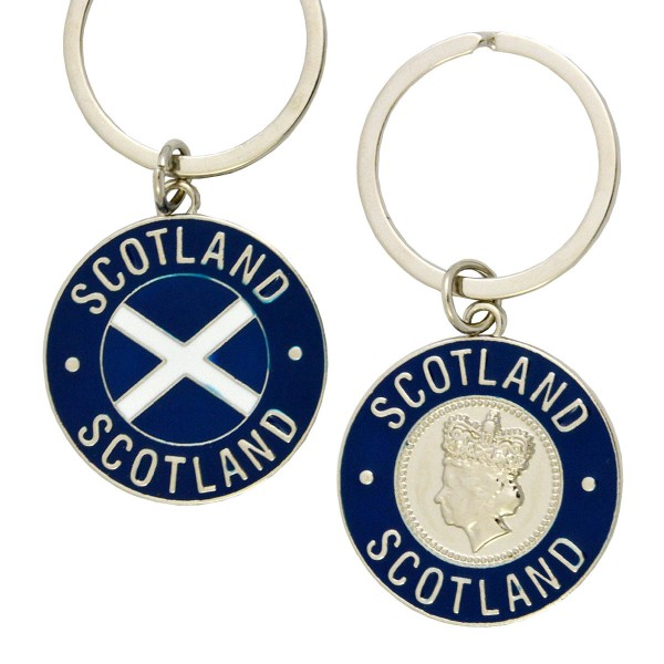 Scottish Flag & Queen Keyring 35mm