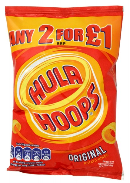 KP Hula Hoops Original 34g Potato Snack