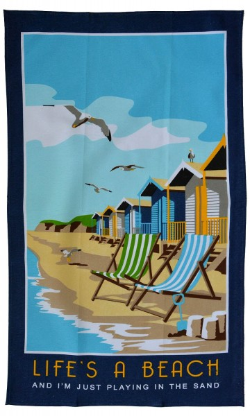 Life`s A Beach Tea Towel 50cm x 80cm