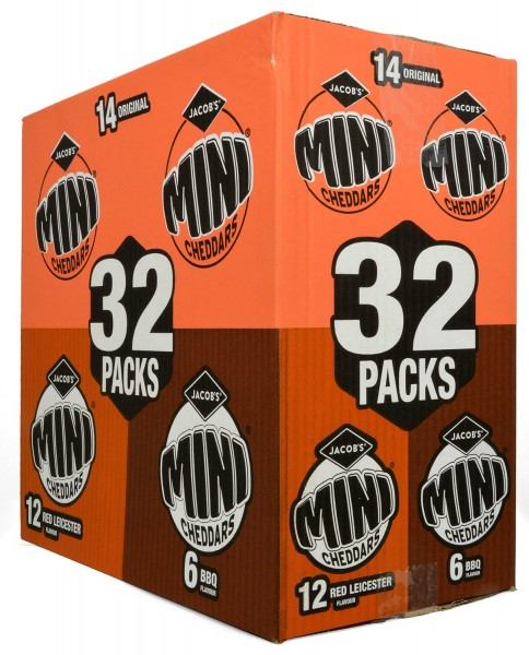 Jacobs 32 Mini Cheddars Variety Box 800g