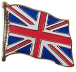 Union Jack Flag Shaped Pin