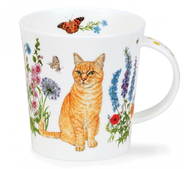 Dunoon Lomond Floral Cats Ginger by Charlotte Galloux
