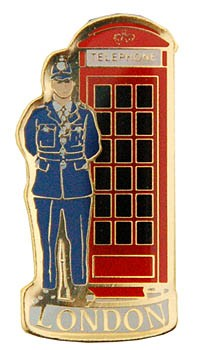 Policeman with Telephone Box Pin