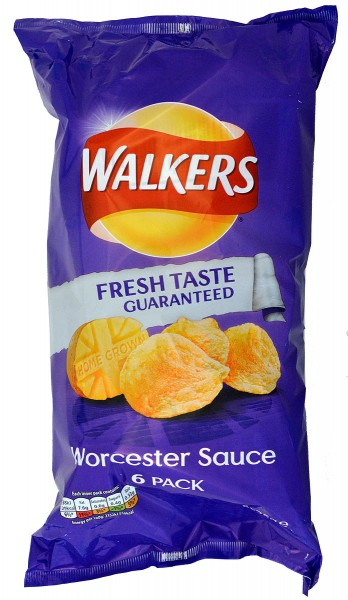 Walkers Worcester Sauce, 6 x 25g Pack