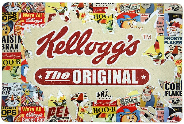 Metal Sign ´Kellogg´s - The Original´ Collage