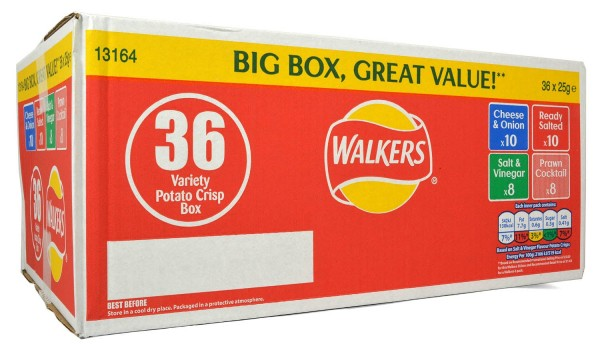 Walkers 36er Variety Box 36 x 25g
