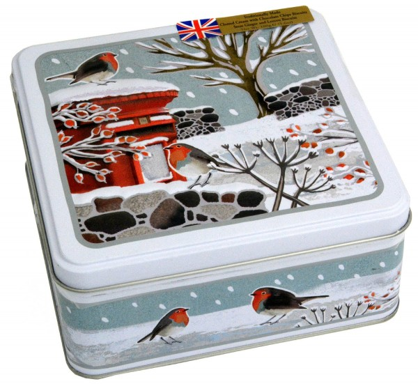 Grandma Wilds Robins in Winter Tin 160g Biscuits