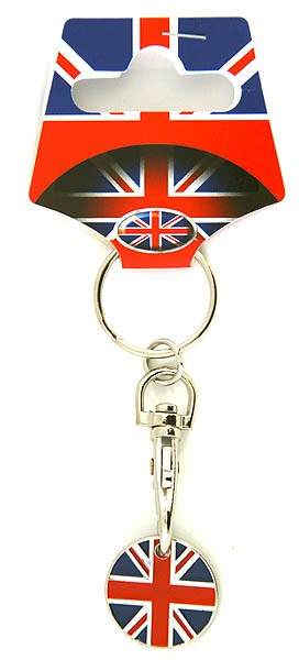 Keyring Union Jack Trolley Token