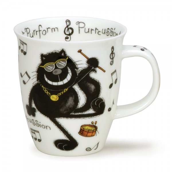 Dunoon Nevis Purrfect Cats - Purrcussion by Jane Brookshaw