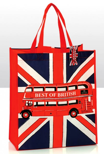 Union Jack with Bus Shopping Bag