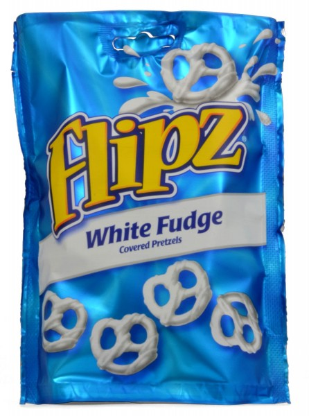 Flipz White Fudge coated Pretzels 90g