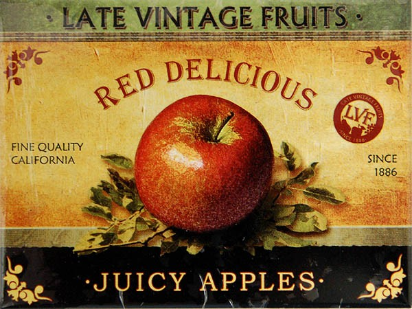 Magnet ´Red Delicious - Juicy Apples´
