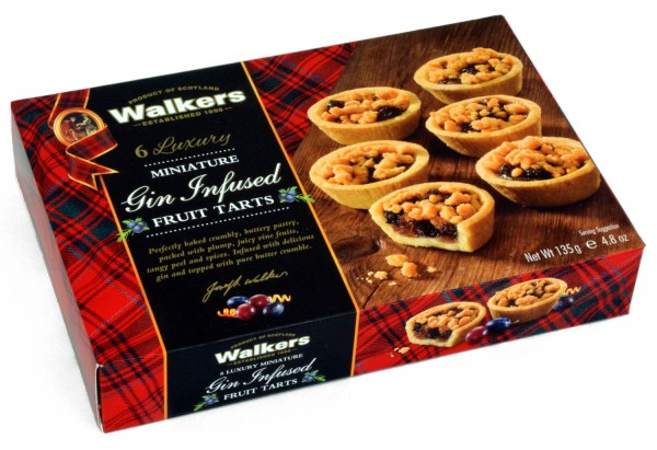 Walkers Gin Infused Fruit Tarts 135g