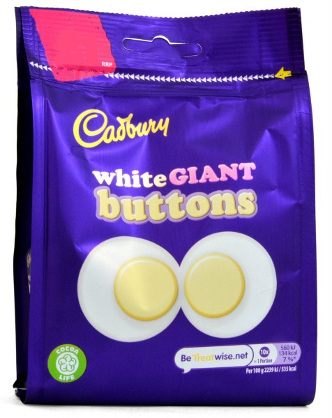 Cadbury White Giant Buttons 95g