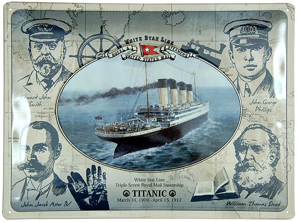Metal Sign ´Titanic Crew and Victims´