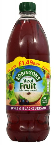 Robinsons Real Fruit Apple & Blackcurrant 900ml
