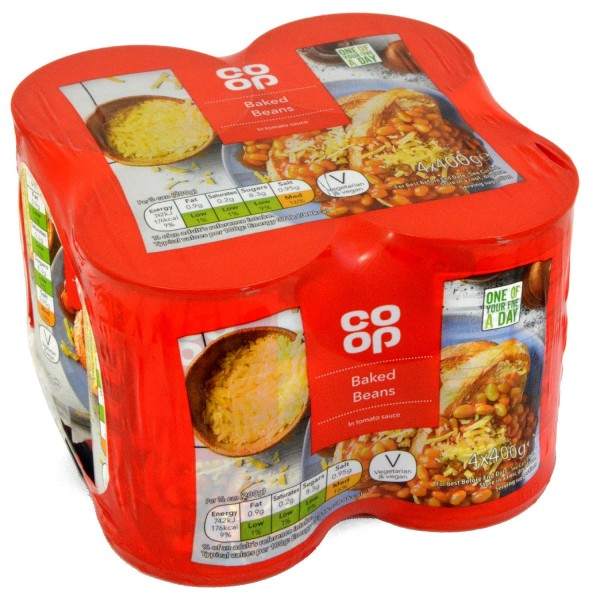 Co-op Baked Beans in Tomato Sauce 4 x 400g