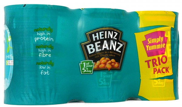 Heinz Baked Beans Trio Pack 3 x 415g