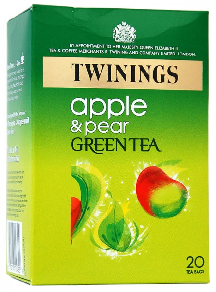 Twinings Green Tea Apple & Pear - Apfel & Birne 20 Beutel
