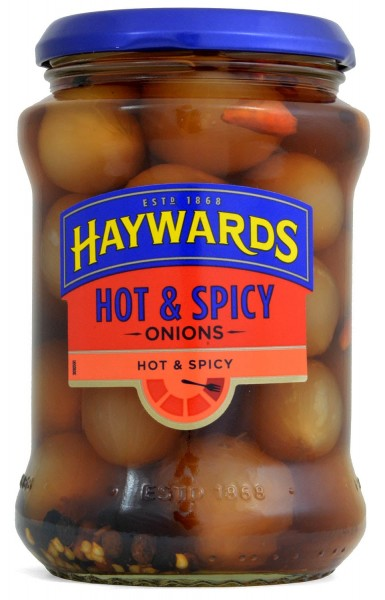 Haywards Hot & Spicy Onions 400g