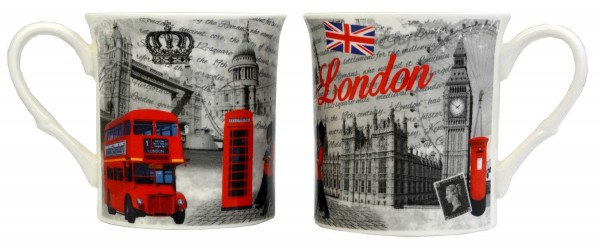 London Mug Black/Red