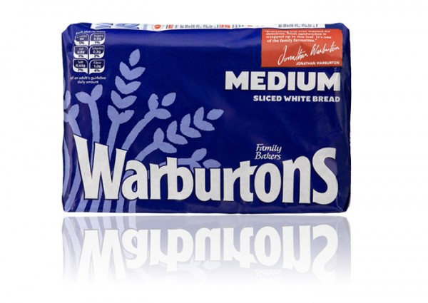 Warburtons Medium Sliced White Bread 800g