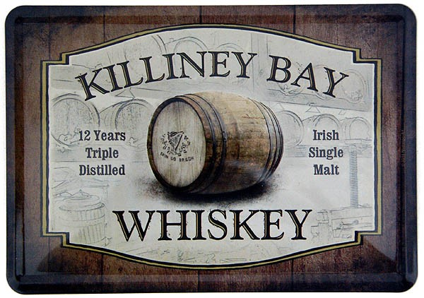 Metal Postcard Blechpostkarte ´Killiney Bay Whiskey´