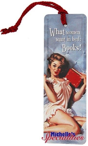Bookmark / Lesezeichen ´What women want in bed: Books!´
