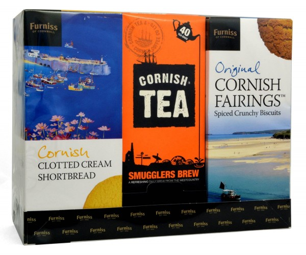 Furniss Cornish Biscuits & Tea Gift Pack 2x200g + 125g