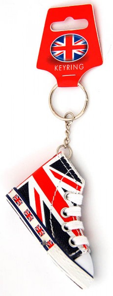 Union Jack Basketball Boot Keyring