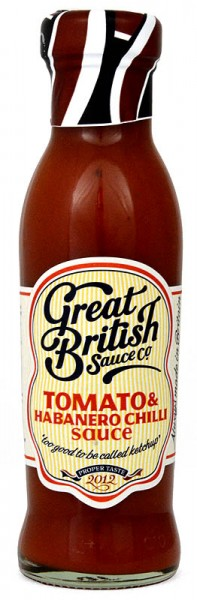 Great British Tomato & Habanero Chilli Sauce 320g