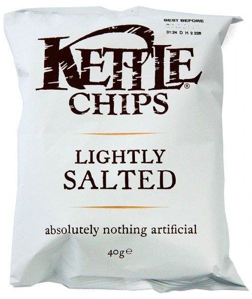 Kettle Chips Lightly Salted (Sea Salt), Tüte 40 g
