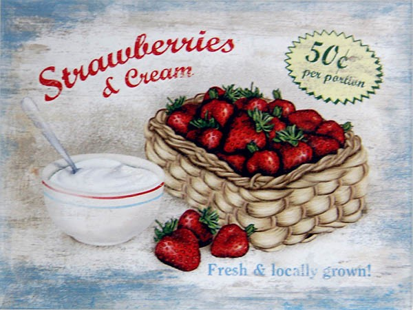 Magnet ´Strawberries & Cream´