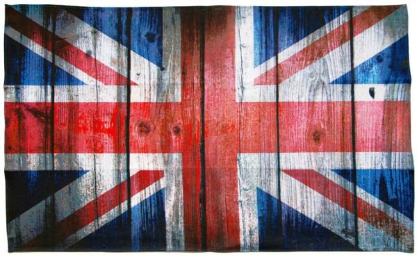Tea Towel Union Jack Wooden