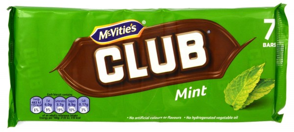 McVities Club Mint 7 Riegel 154g