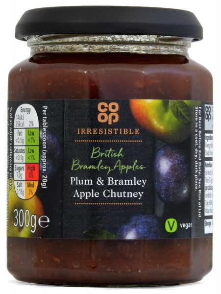 Co-op Plum & Bramley Apple Chutney 300g
