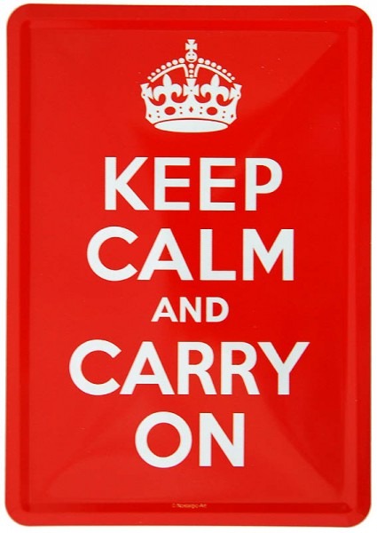 Blechpostkarte ´Keep Calm and Carry On´