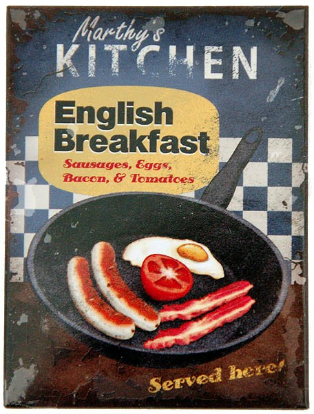 Magnet ´English Breakfast Served Here´