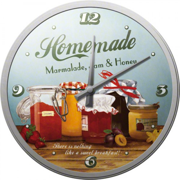 Wall Clock ´Homemade Marmalade, Jam & Honey´